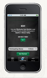 Getting started using Starbucks Card Mobile