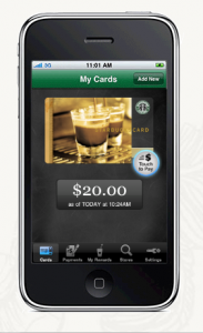 Making a payment using Starbucks Card Mobile