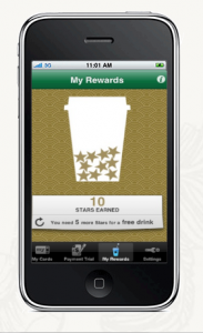 Checking your Starbucks Rewards